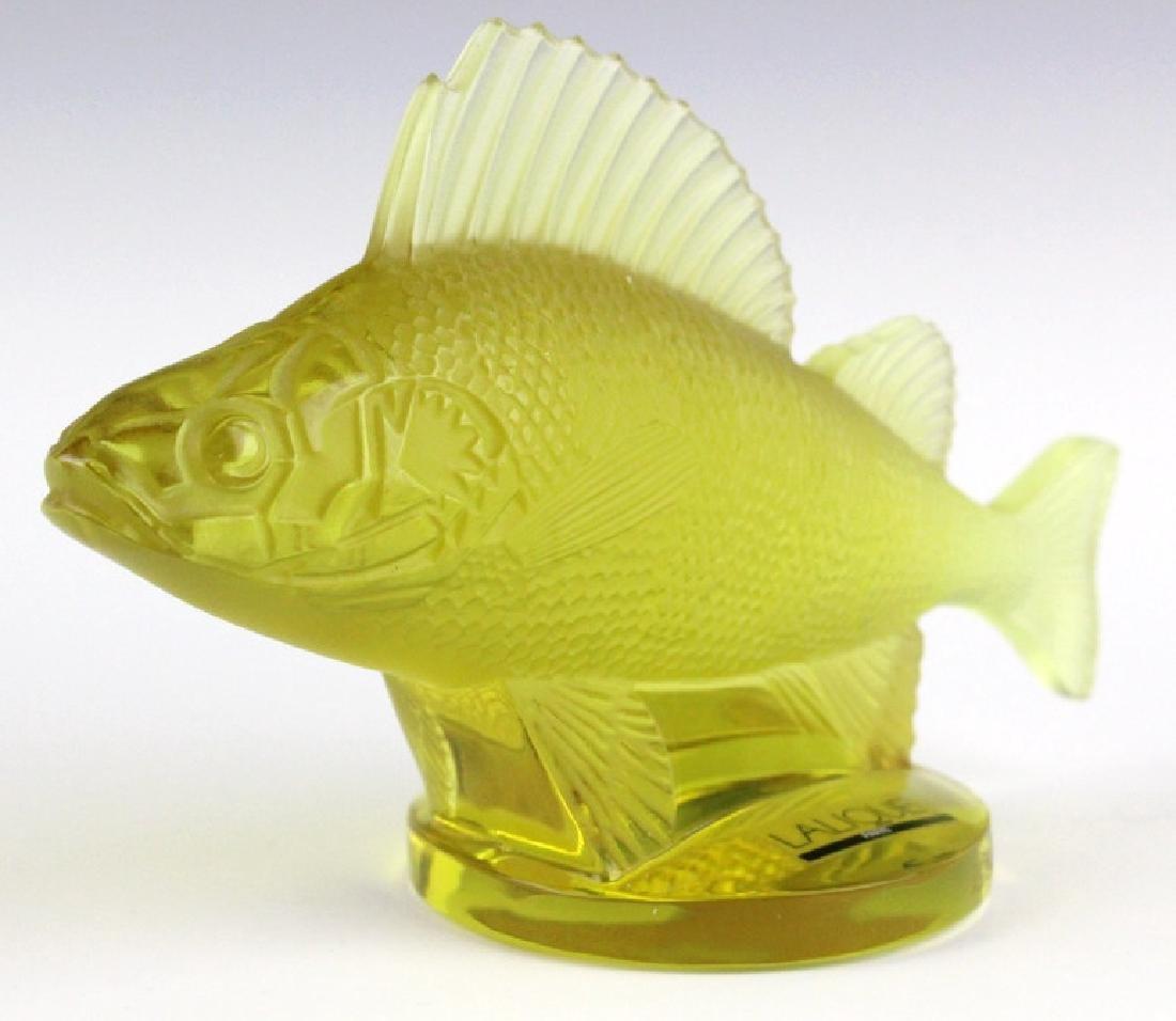 LALIQUE France Yellow Perche (Perch) Fish Figurine - 2
