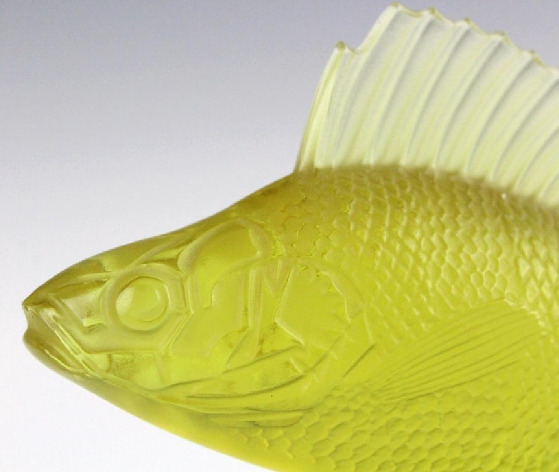 LALIQUE France Yellow Perche (Perch) Fish Figurine - 4