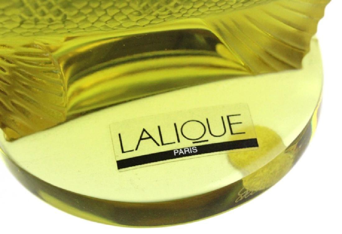 LALIQUE France Yellow Perche (Perch) Fish Figurine - 5