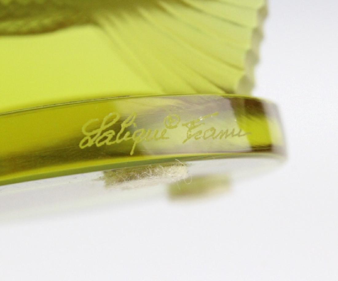 LALIQUE France Yellow Perche (Perch) Fish Figurine - 9