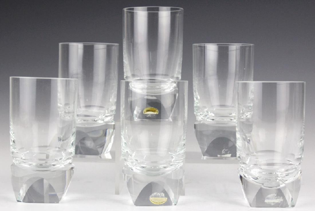 SET of 6 MOSER Bohemian Crystal Tumbler Glasses