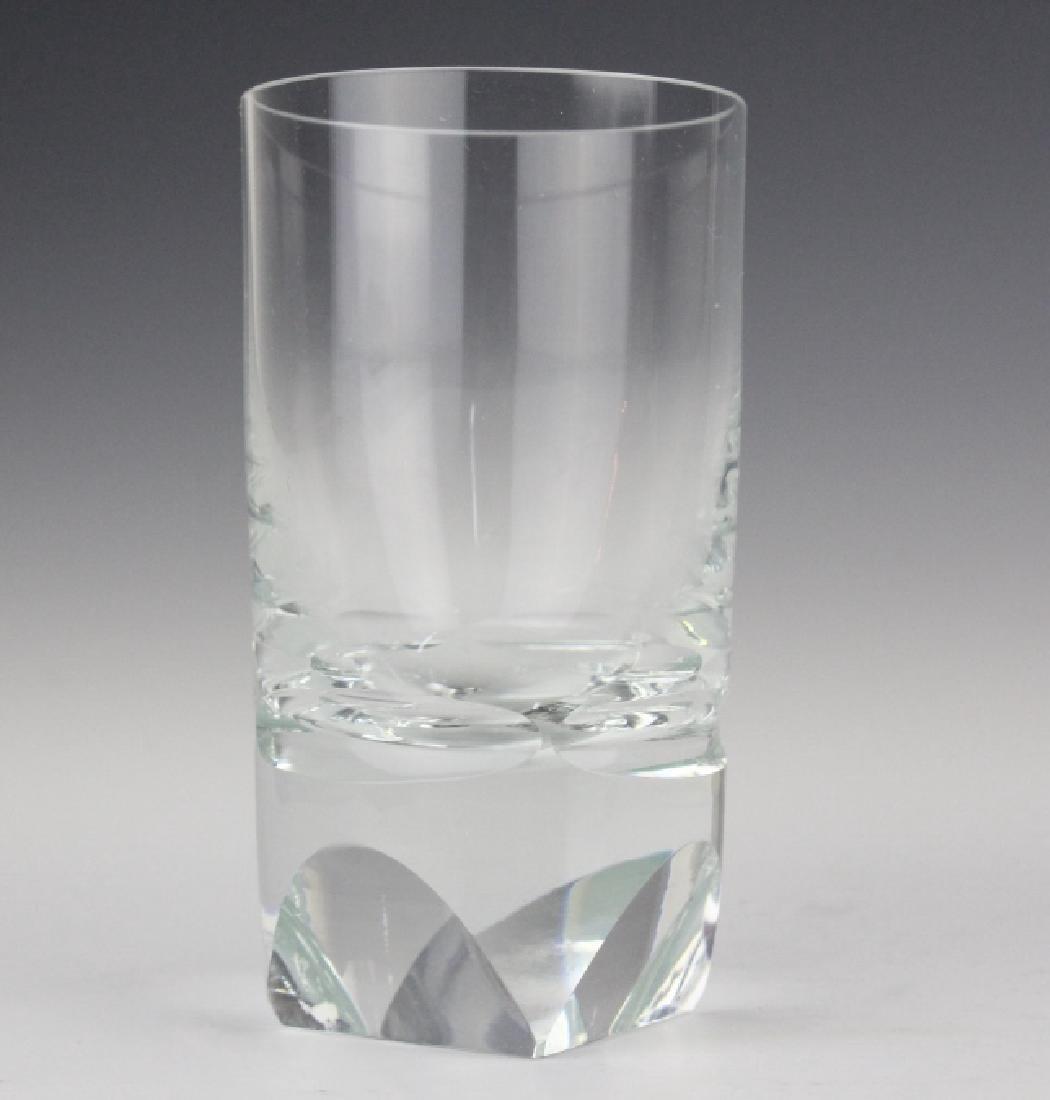 SET of 6 MOSER Bohemian Crystal Tumbler Glasses - 7