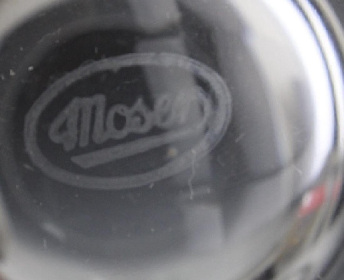 SET of 6 MOSER Bohemian Crystal Tumbler Glasses - 8
