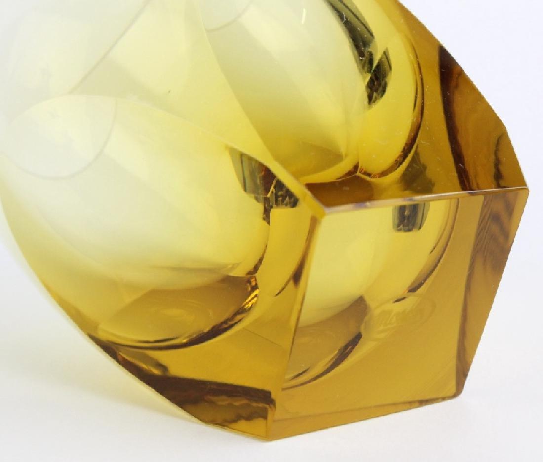SET of 12 MOSER Bohemian Crystal Topaz Tumblers - 6