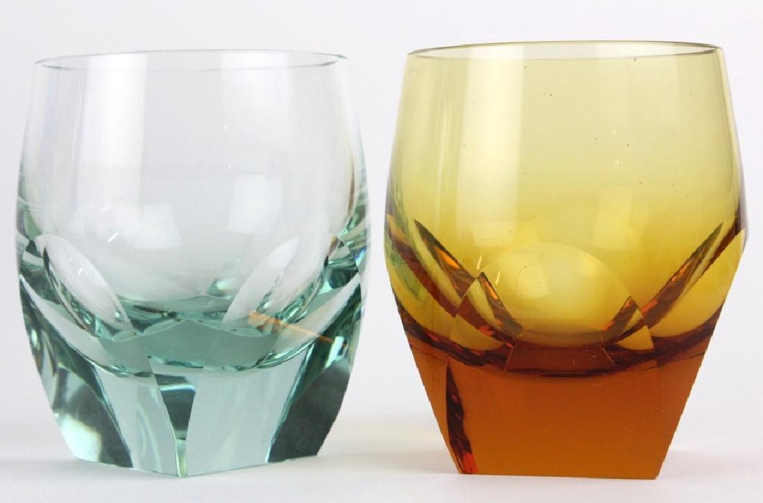 SET 6 MOSER Bohemian Crystal Multicolored Glasses - 2