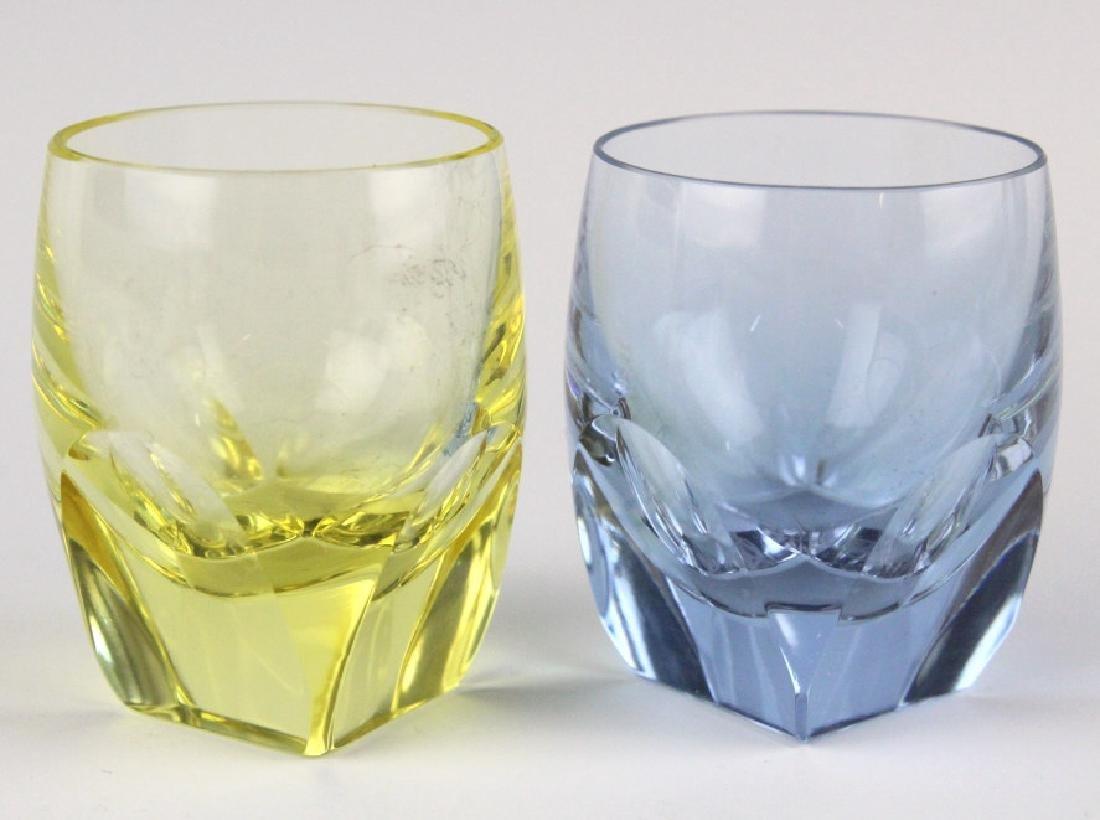 SET 6 MOSER Bohemian Crystal Colored Shot Glasses - 2