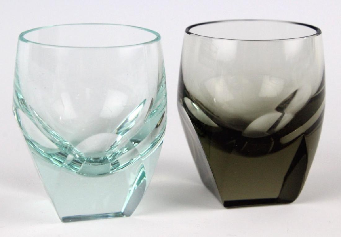 SET 6 MOSER Bohemian Crystal Colored Shot Glasses - 3