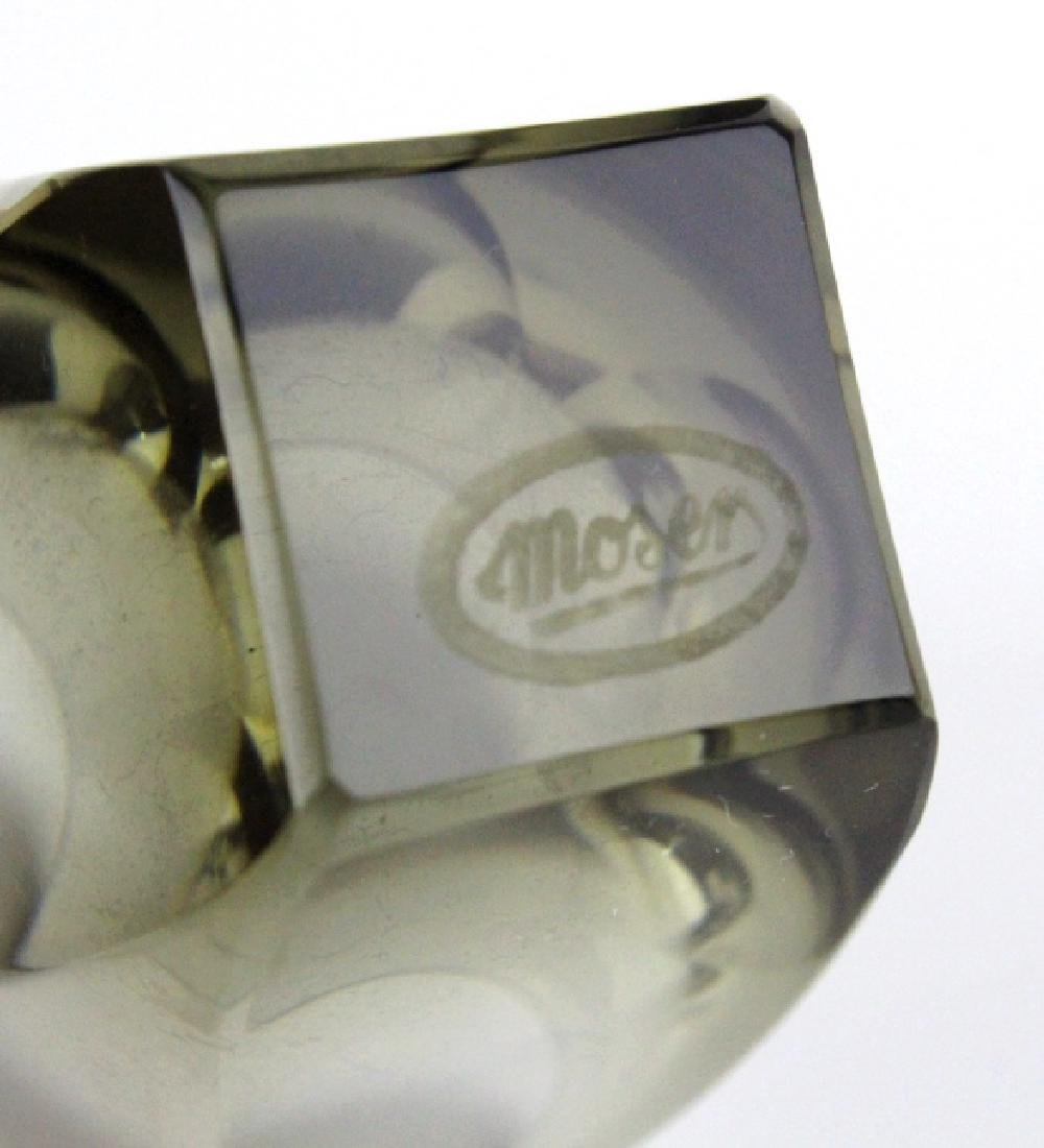 SET 6 MOSER Bohemian Crystal Colored Shot Glasses - 5
