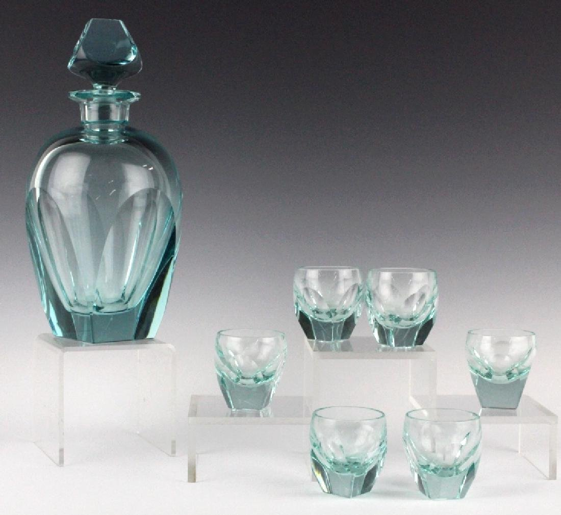 MOSER Bohemian Crystal BAR Decanter & 6 Glasses