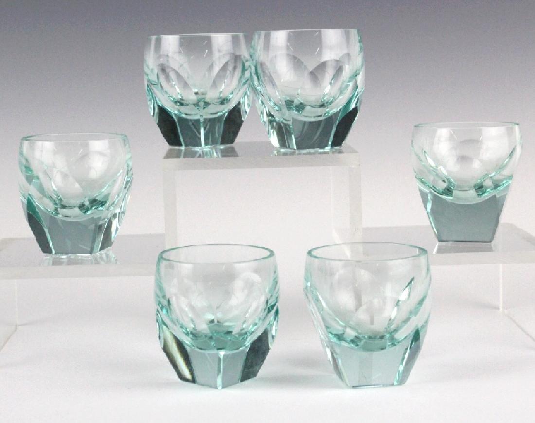 MOSER Bohemian Crystal BAR Decanter & 6 Glasses - 2