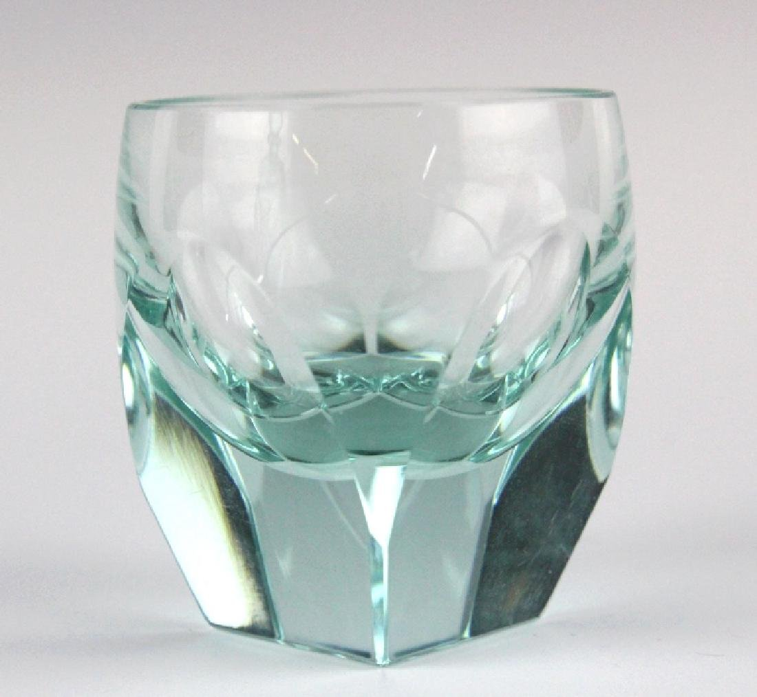 MOSER Bohemian Crystal BAR Decanter & 6 Glasses - 6