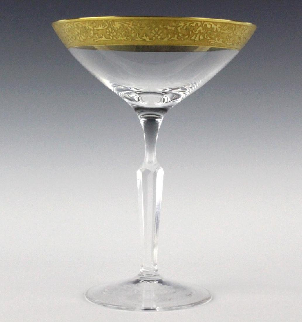 2 MOSER Bohemian Crystal Gilt Etched Martini Glass - 5