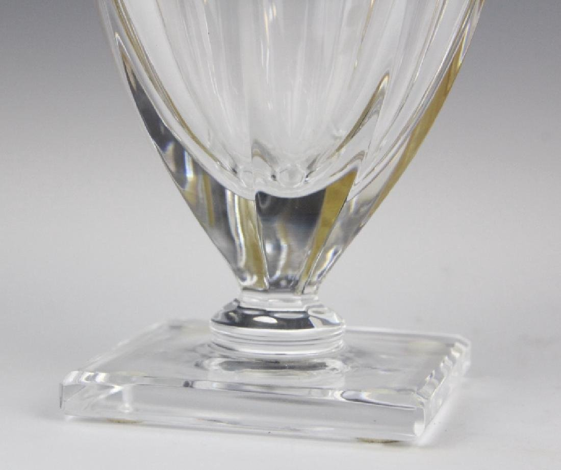 MOSER Bohemian Crystal Gold & Etched Footed Vase - 4