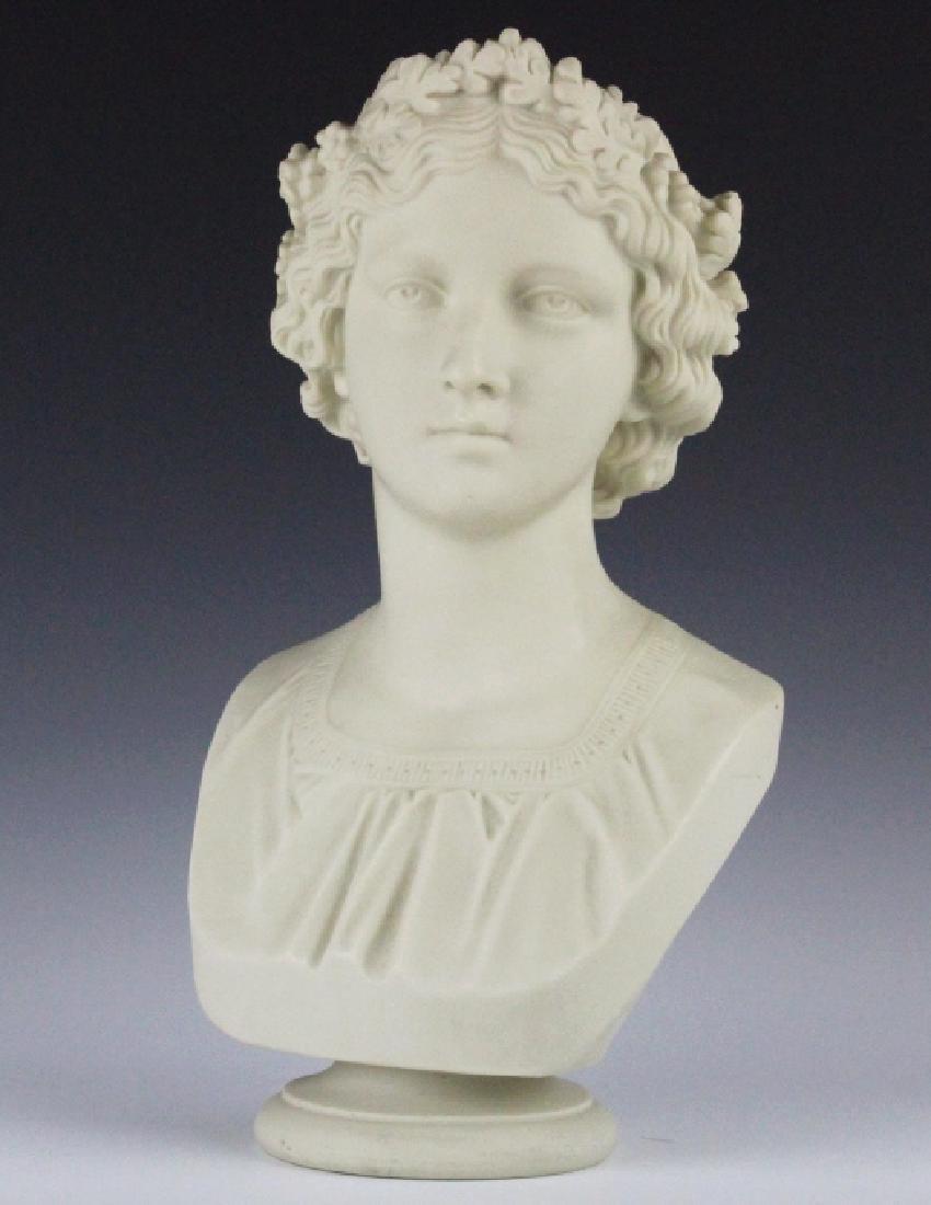 Joseph Durham Copeland MAY QUEEN Porcelain Bust