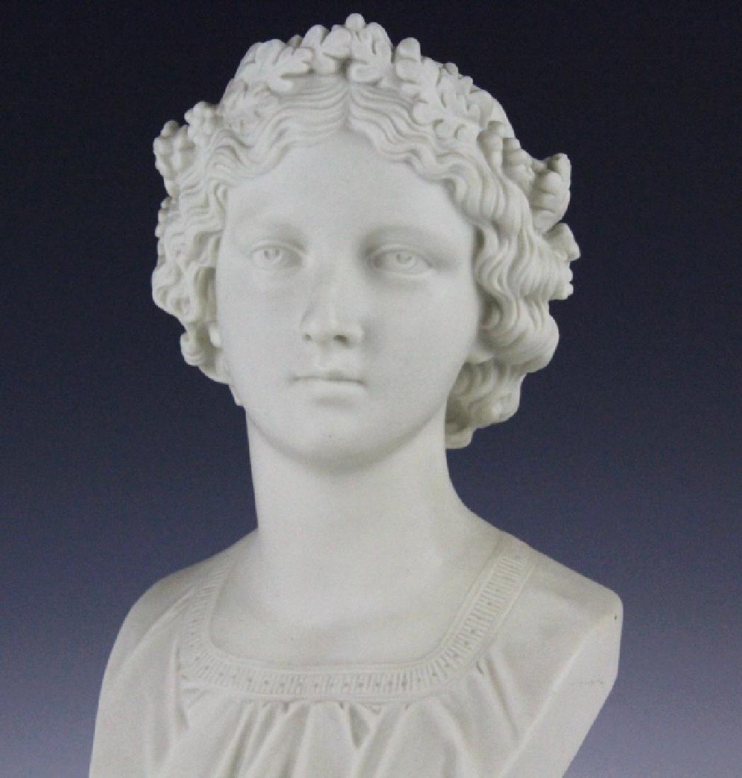 Joseph Durham Copeland MAY QUEEN Porcelain Bust - 2