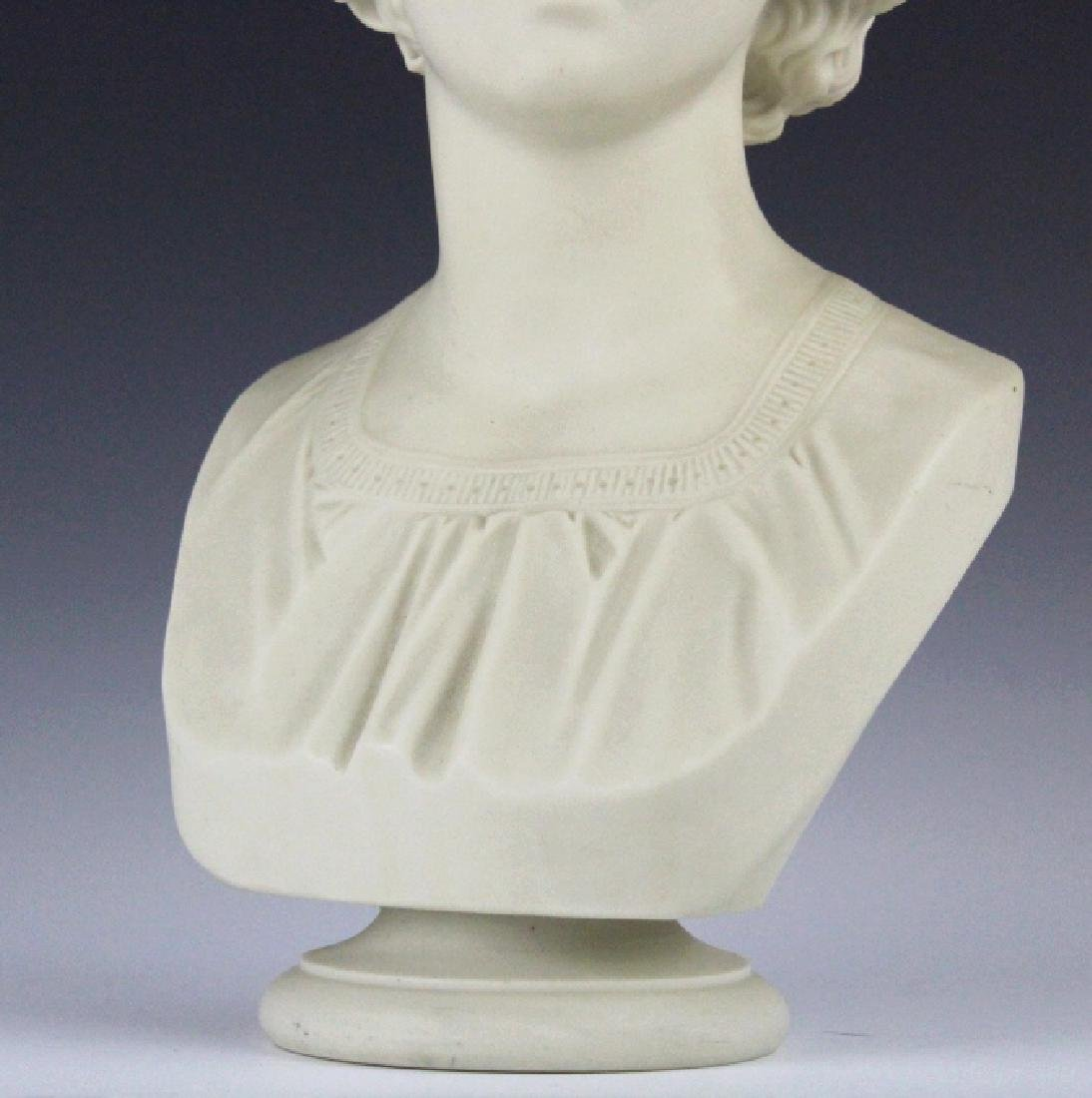 Joseph Durham Copeland MAY QUEEN Porcelain Bust - 3