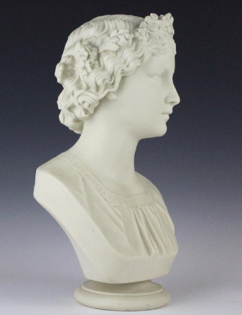 Joseph Durham Copeland MAY QUEEN Porcelain Bust - 4