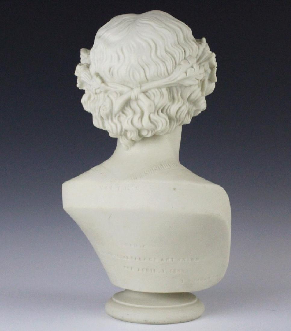 Joseph Durham Copeland MAY QUEEN Porcelain Bust - 5