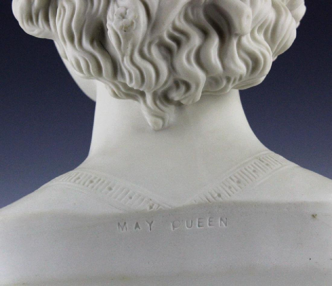 Joseph Durham Copeland MAY QUEEN Porcelain Bust - 7