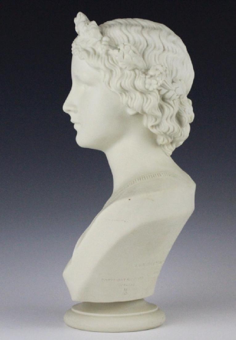 Joseph Durham Copeland MAY QUEEN Porcelain Bust - 8