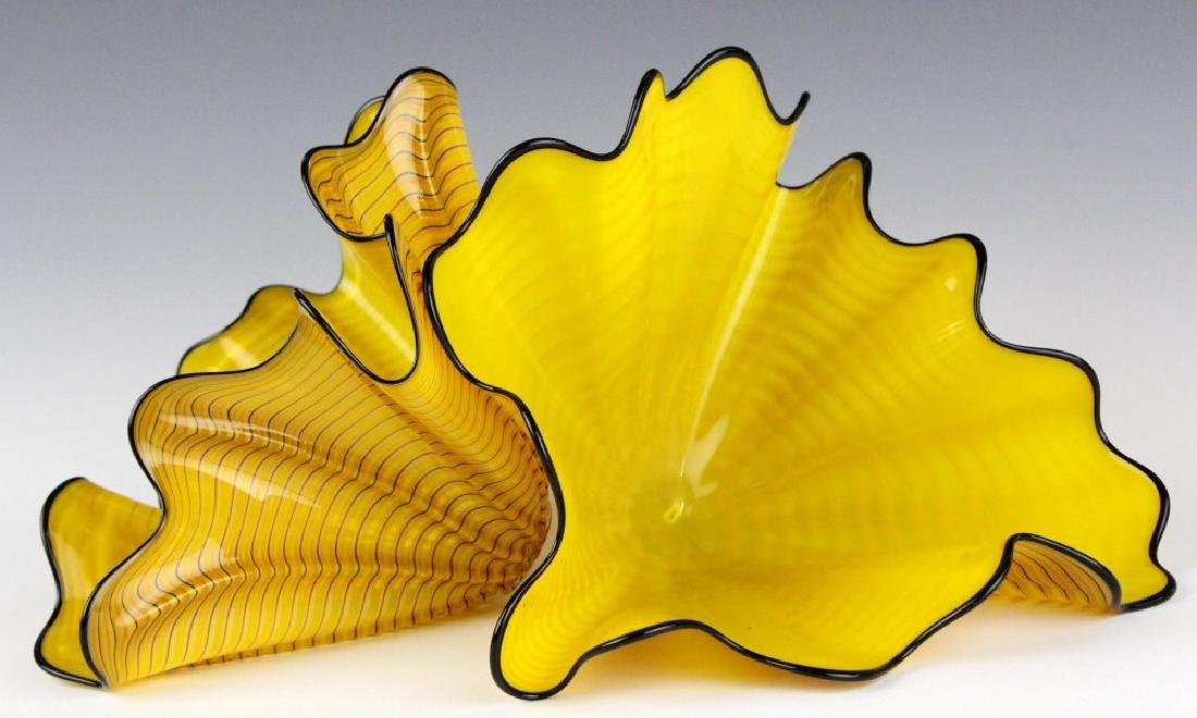 Dale Chihuly Radiant Persian Pair 2p Art Sculpture - 10