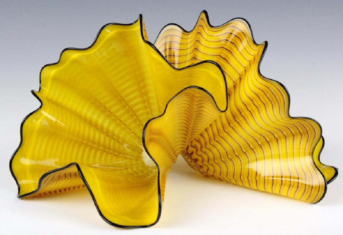 Dale Chihuly Radiant Persian Pair 2p Art Sculpture