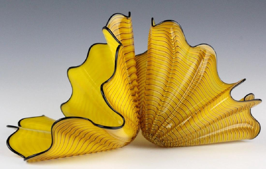Dale Chihuly Radiant Persian Pair 2p Art Sculpture - 3