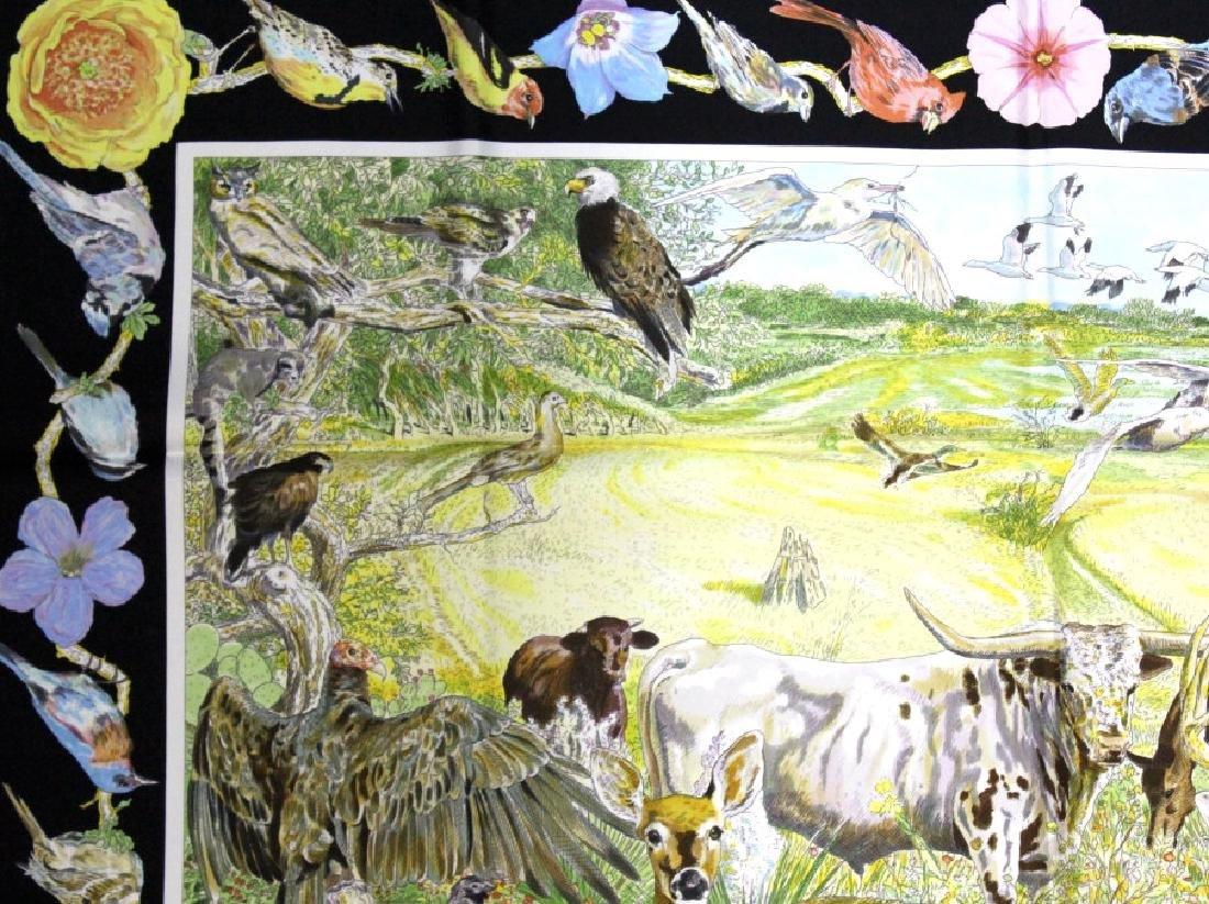 HERMES La Vie Sauvage du Texas Silk Scarf 36x36 - 9