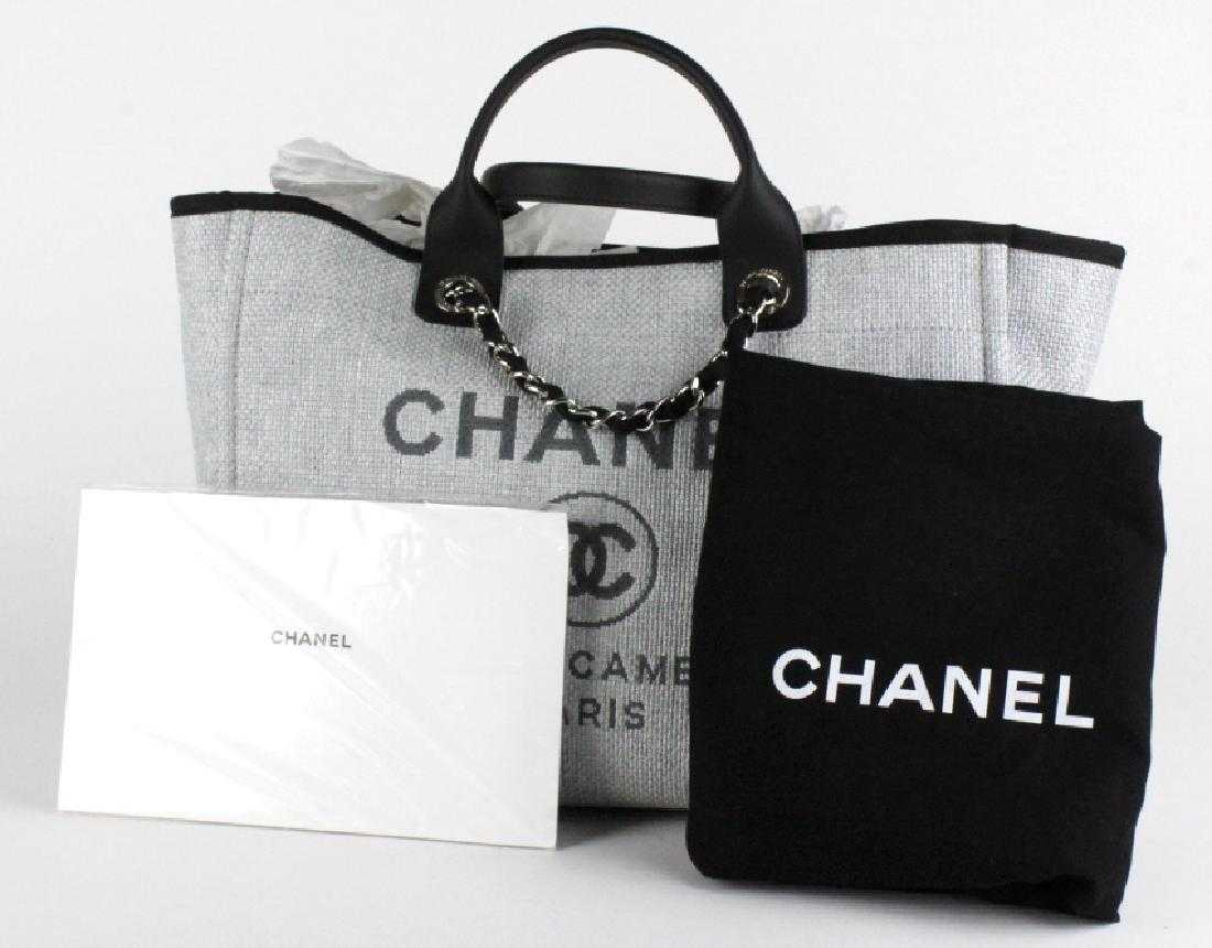 da195c777561 CHANEL Large 30cm Grey Shopping Tote Hand Bag NWT