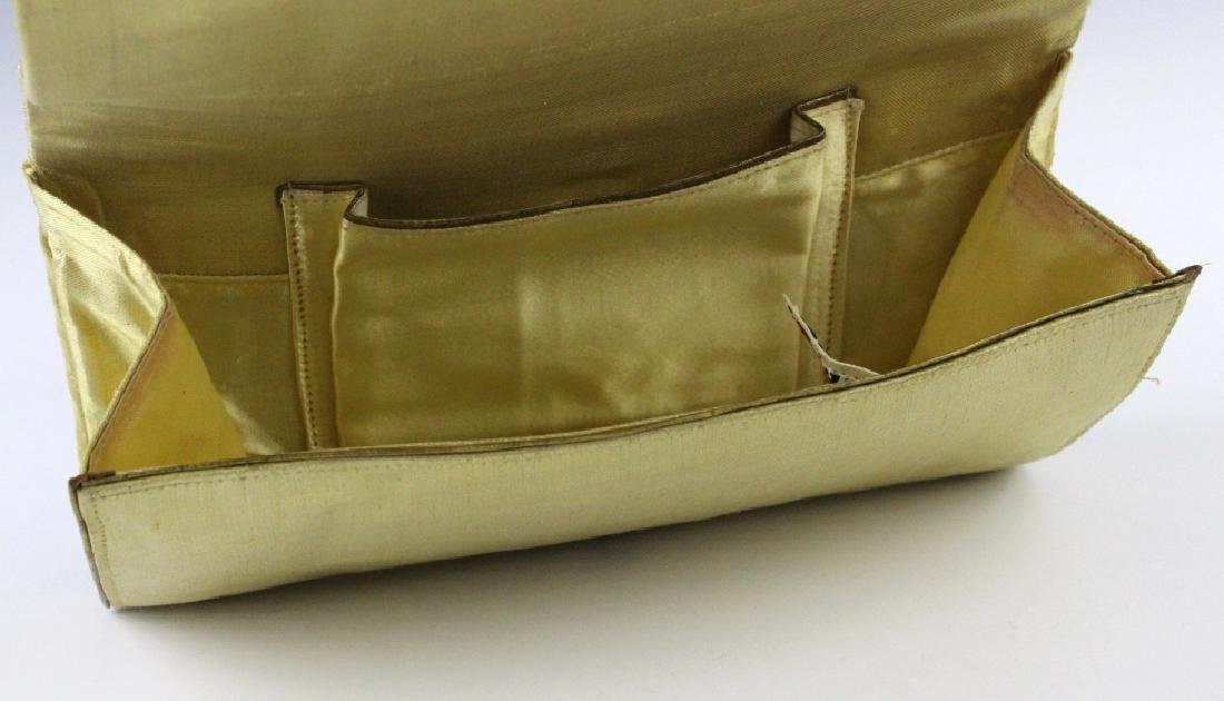 Indian Gold & Silver Gem Jeweled Purse Handbag Bag - 10
