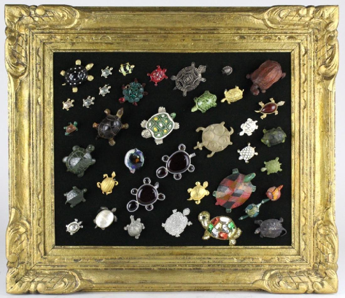 Pauline Trigere ESTATE Turtle Brooch Art Collage