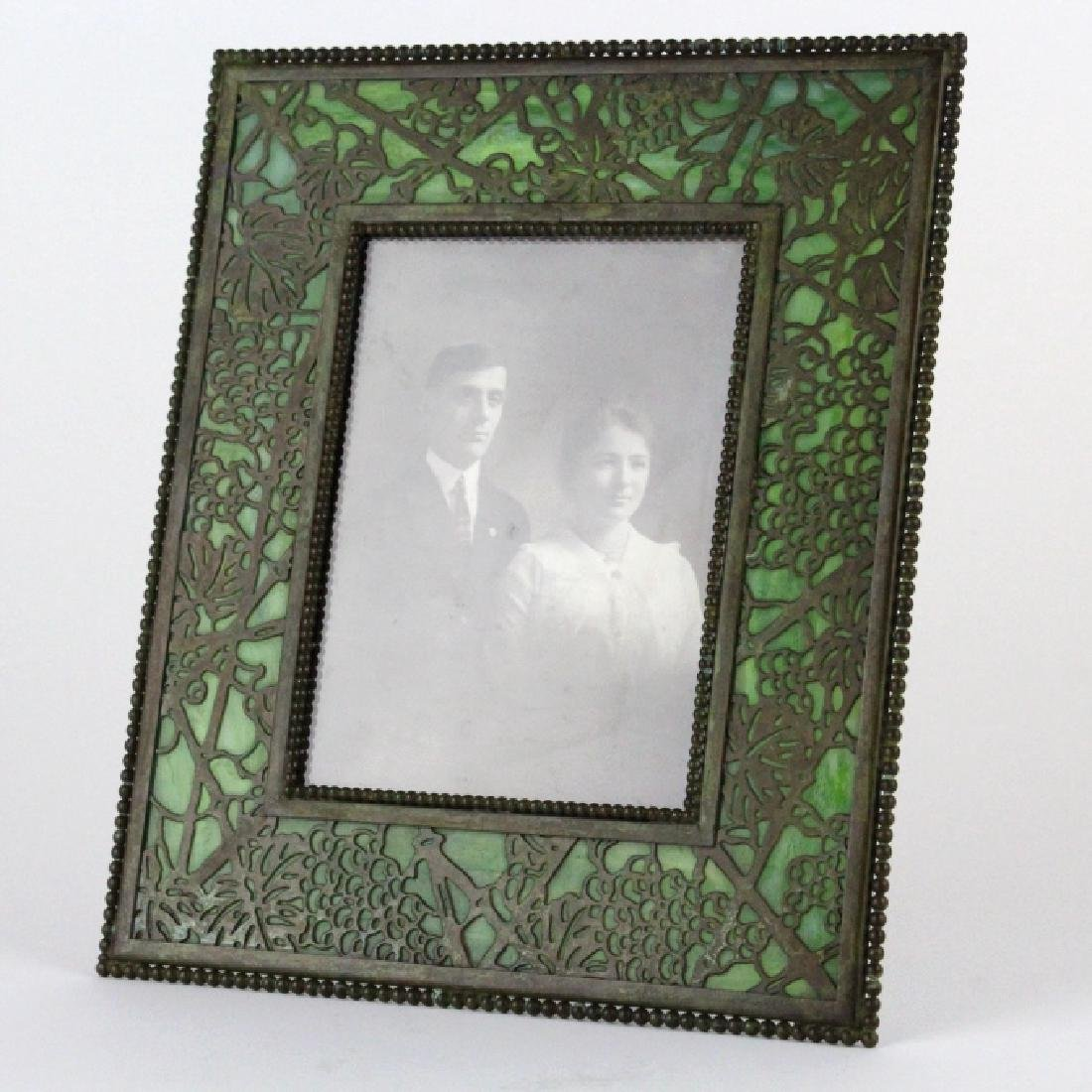 Tiffany Studios Grapevine Glass Picture Frame