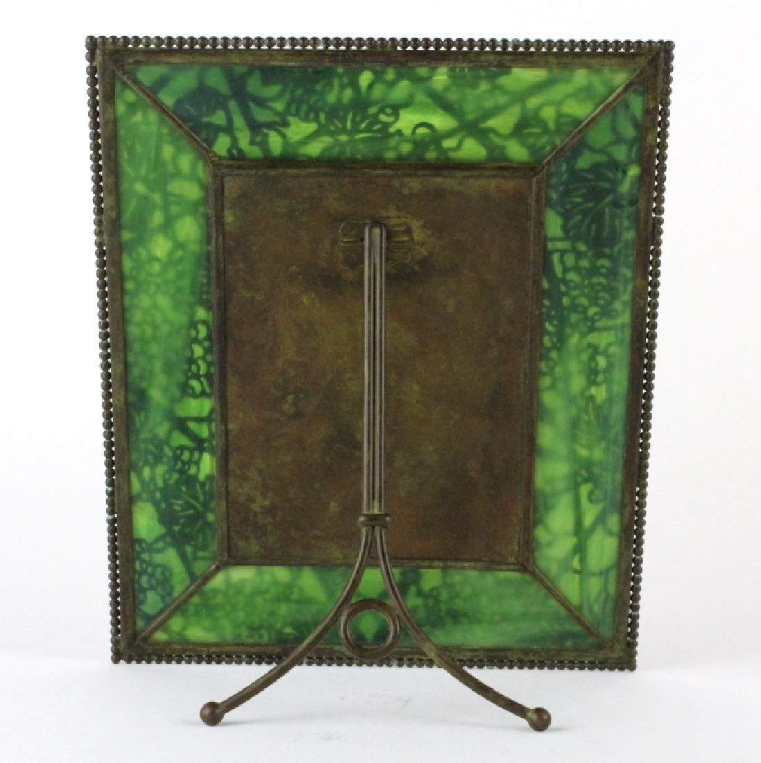 Tiffany Studios Grapevine Glass Picture Frame - 6