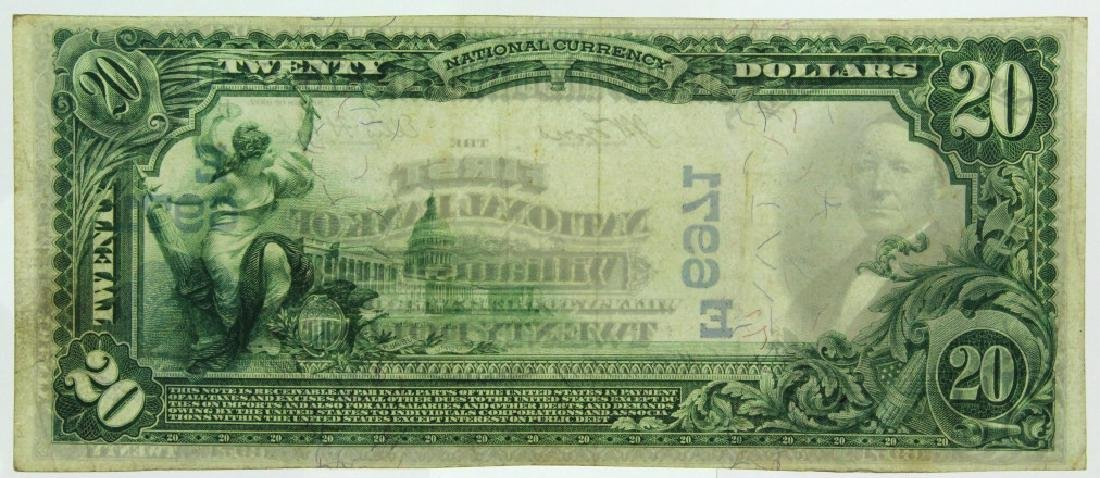 1902 1st NB of Williamsburg PA $20 Bill Ch 6971 - 2