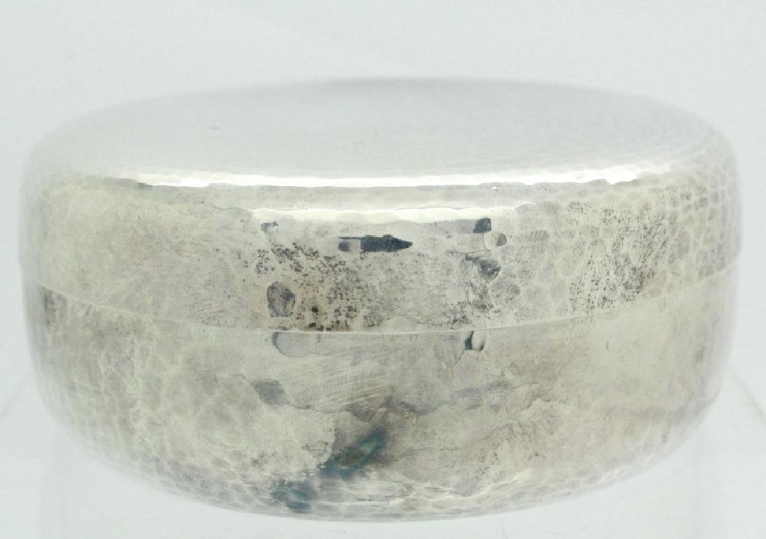 PAIR of Chinese Hammered Silver Lidded Pill Box - 2