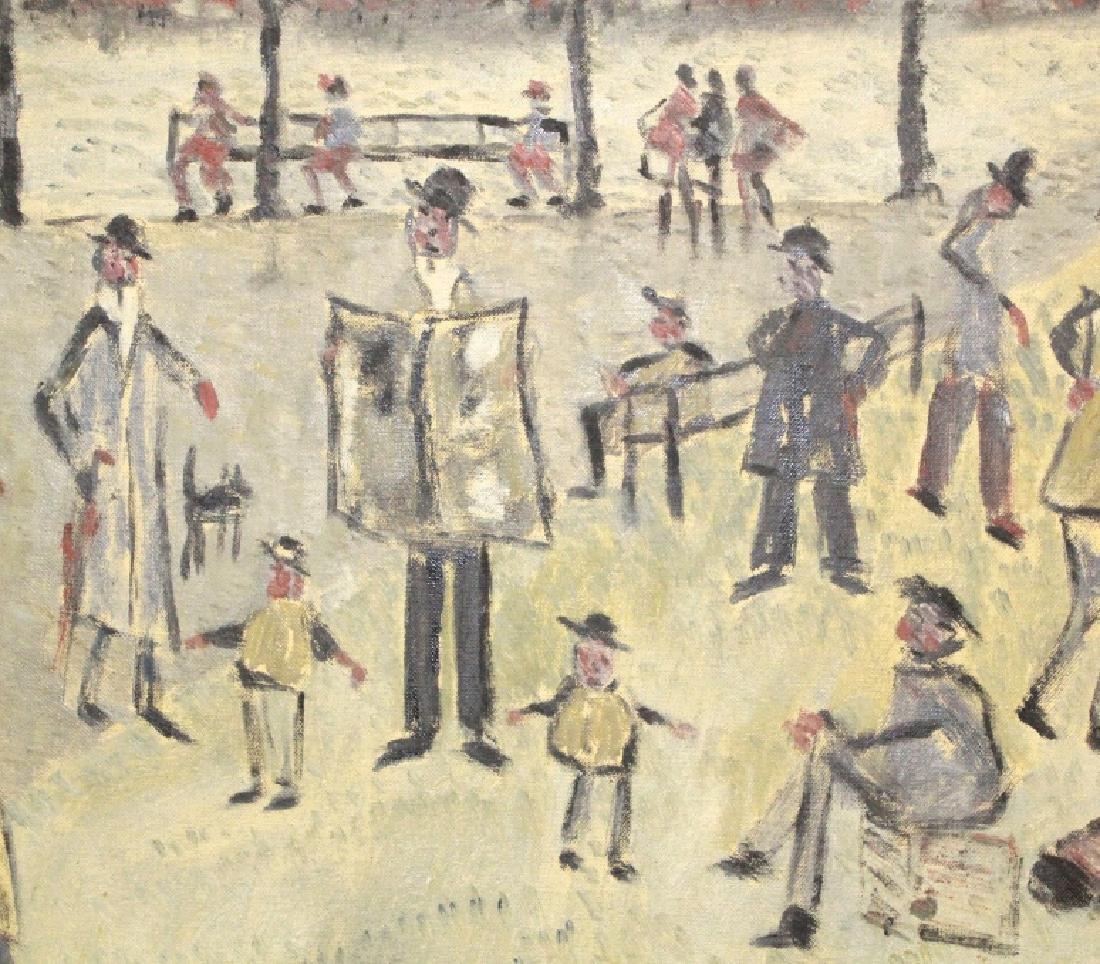Phillip Pieck Modernist Men in Park Oil Painting - 4