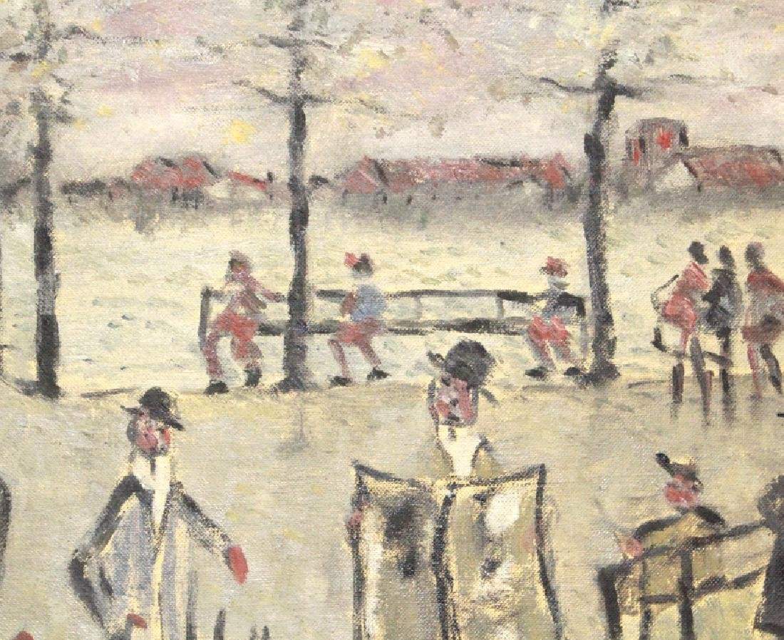 Phillip Pieck Modernist Men in Park Oil Painting - 6