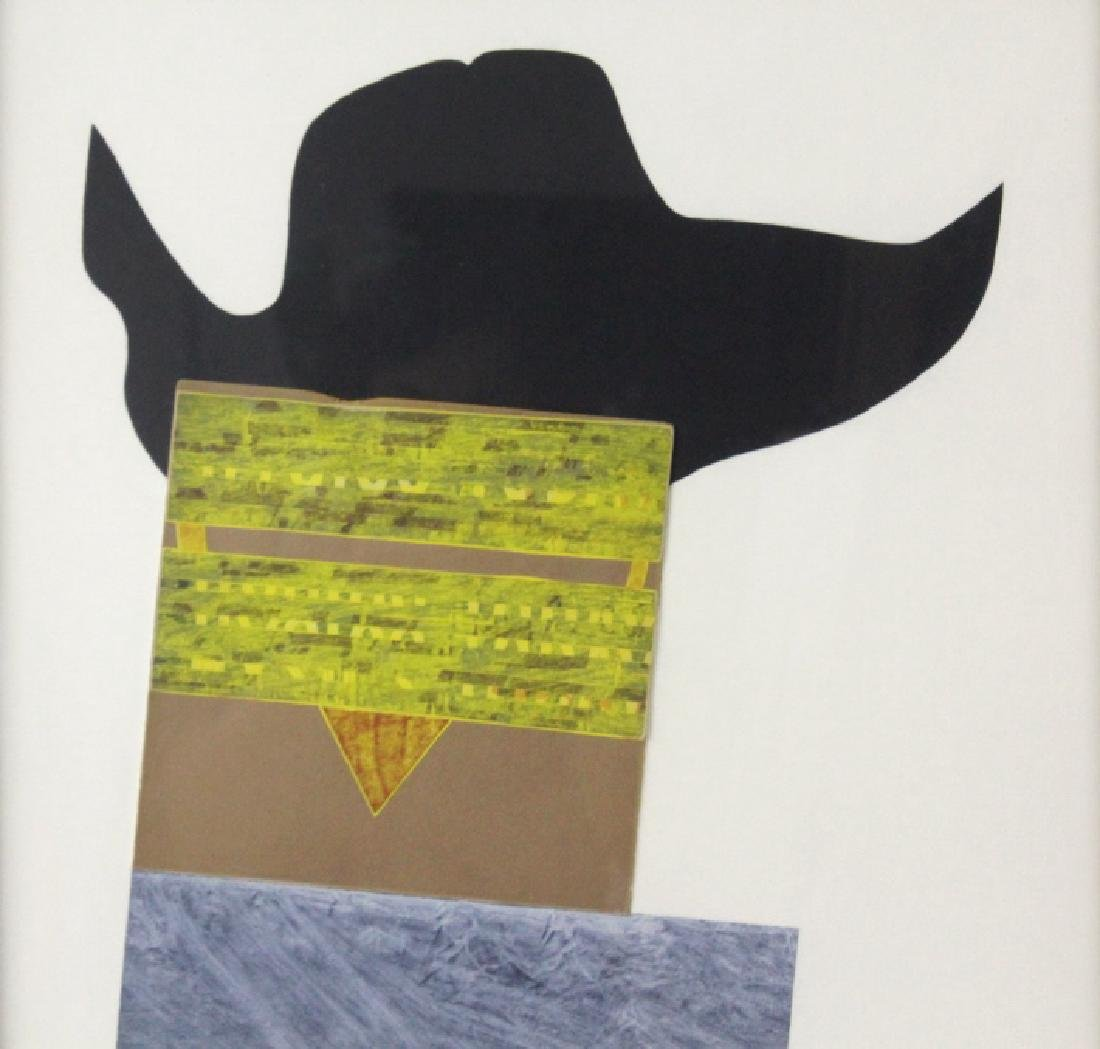 RAY JOHNSON Hat with Red Eyes Collage Mixed Media - 4