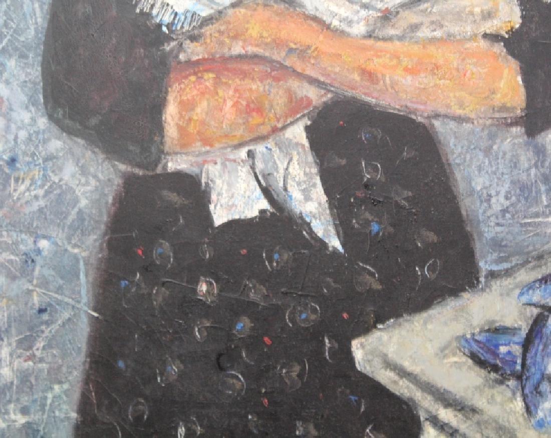 DURO PULITIKA Modernist Woman w Fish Oil Painting - 3