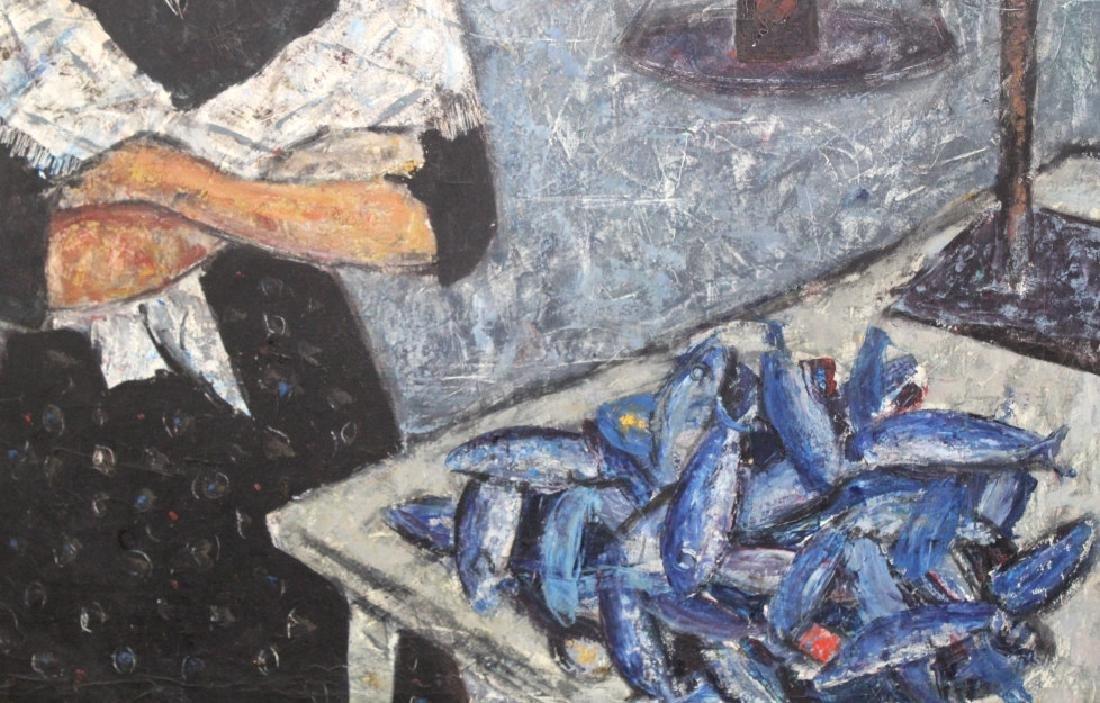 DURO PULITIKA Modernist Woman w Fish Oil Painting - 5