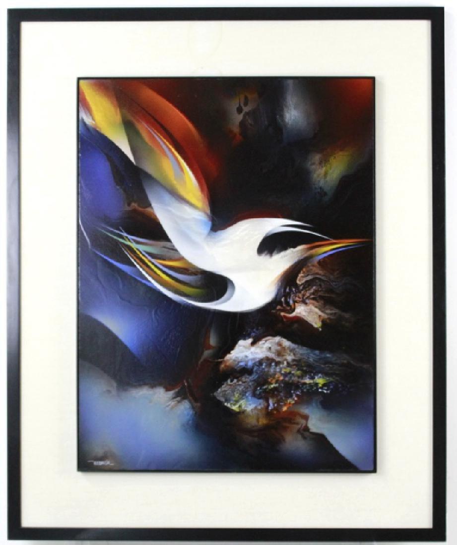 Leonardo Nierman Oil On Board Abstract Painting - 2