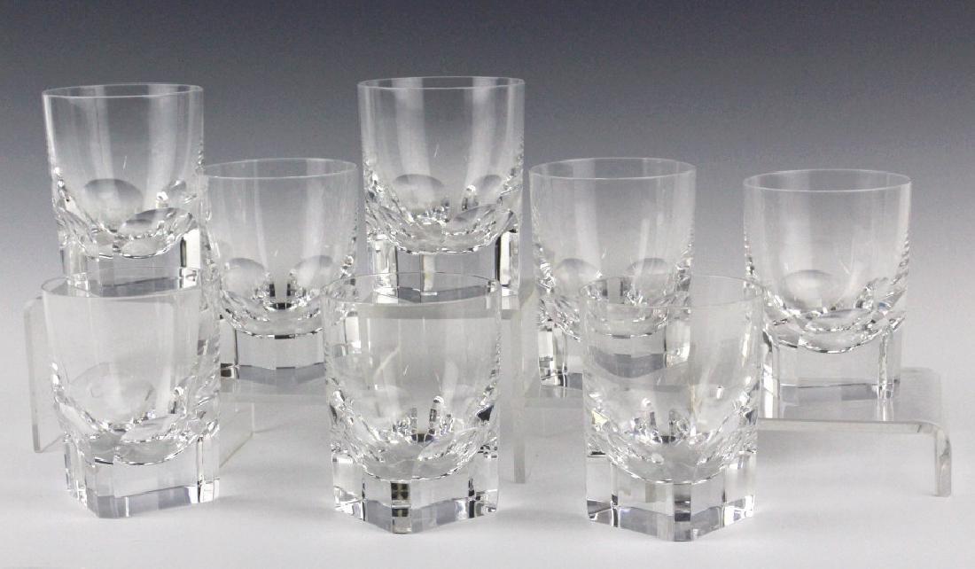 8 BACCARAT Crystal Pluton Old Fashoned Glasses SET