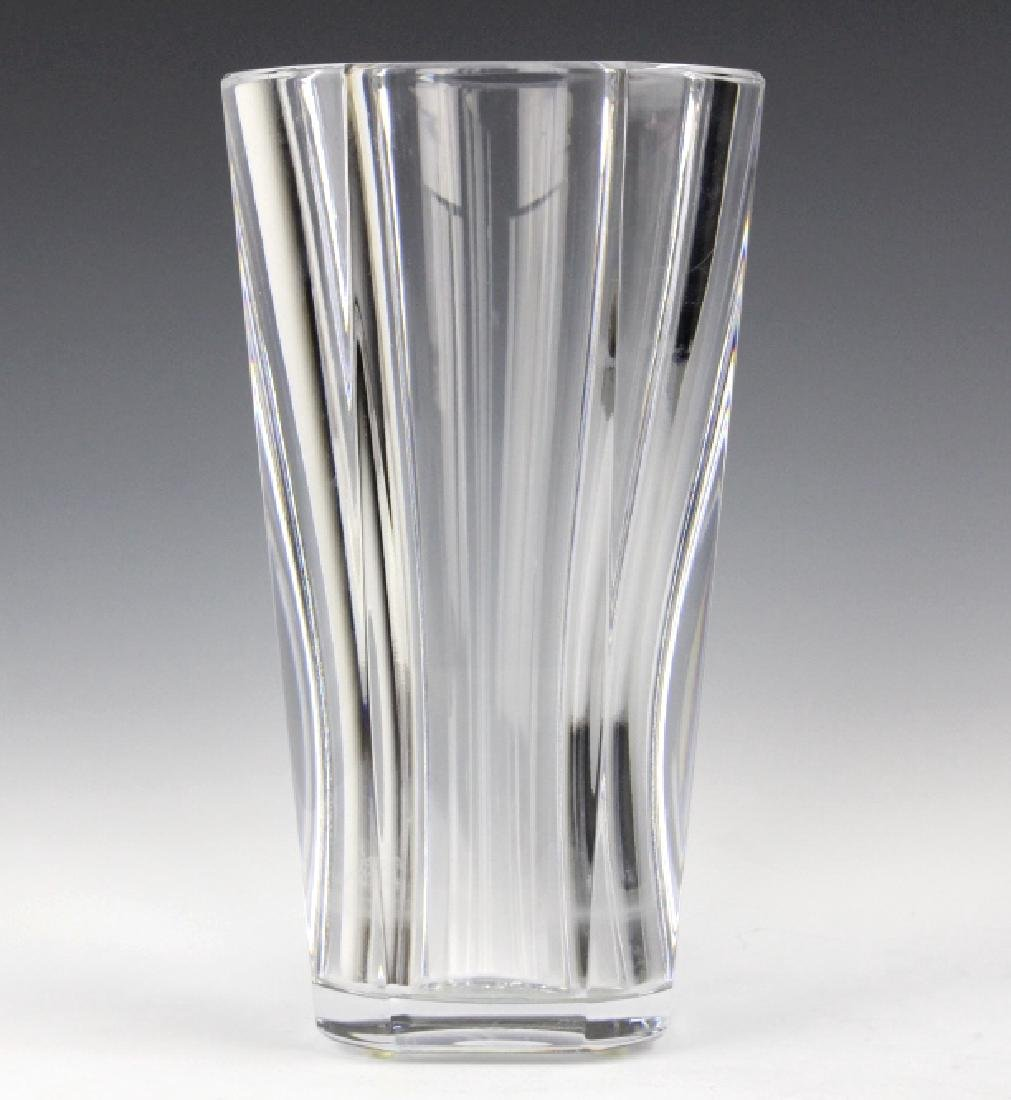 "BACCARAT French Art Glass Crystal 10"" Diane Vase - 3"
