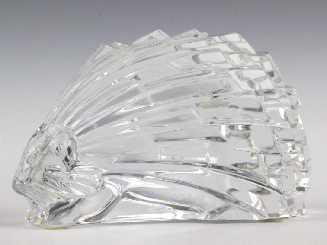 """BACCARAT French Art Crystal Porcupine Figurine 5"""""""