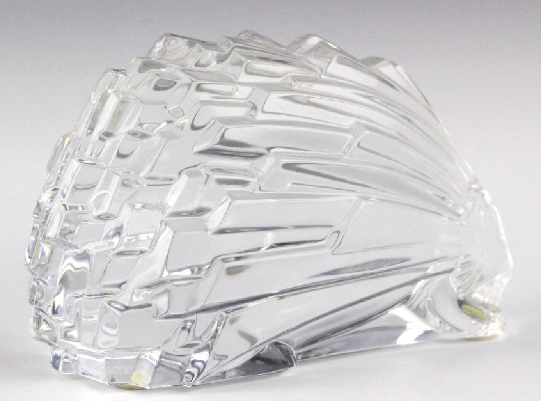"""BACCARAT French Art Crystal Porcupine Figurine 5"""" - 4"""