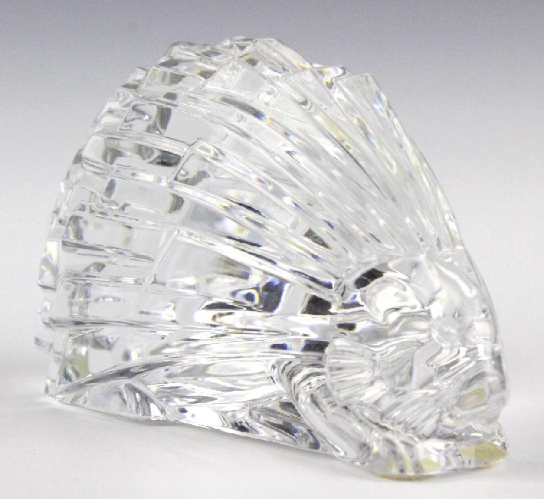 """BACCARAT French Art Crystal Porcupine Figurine 5"""" - 5"""