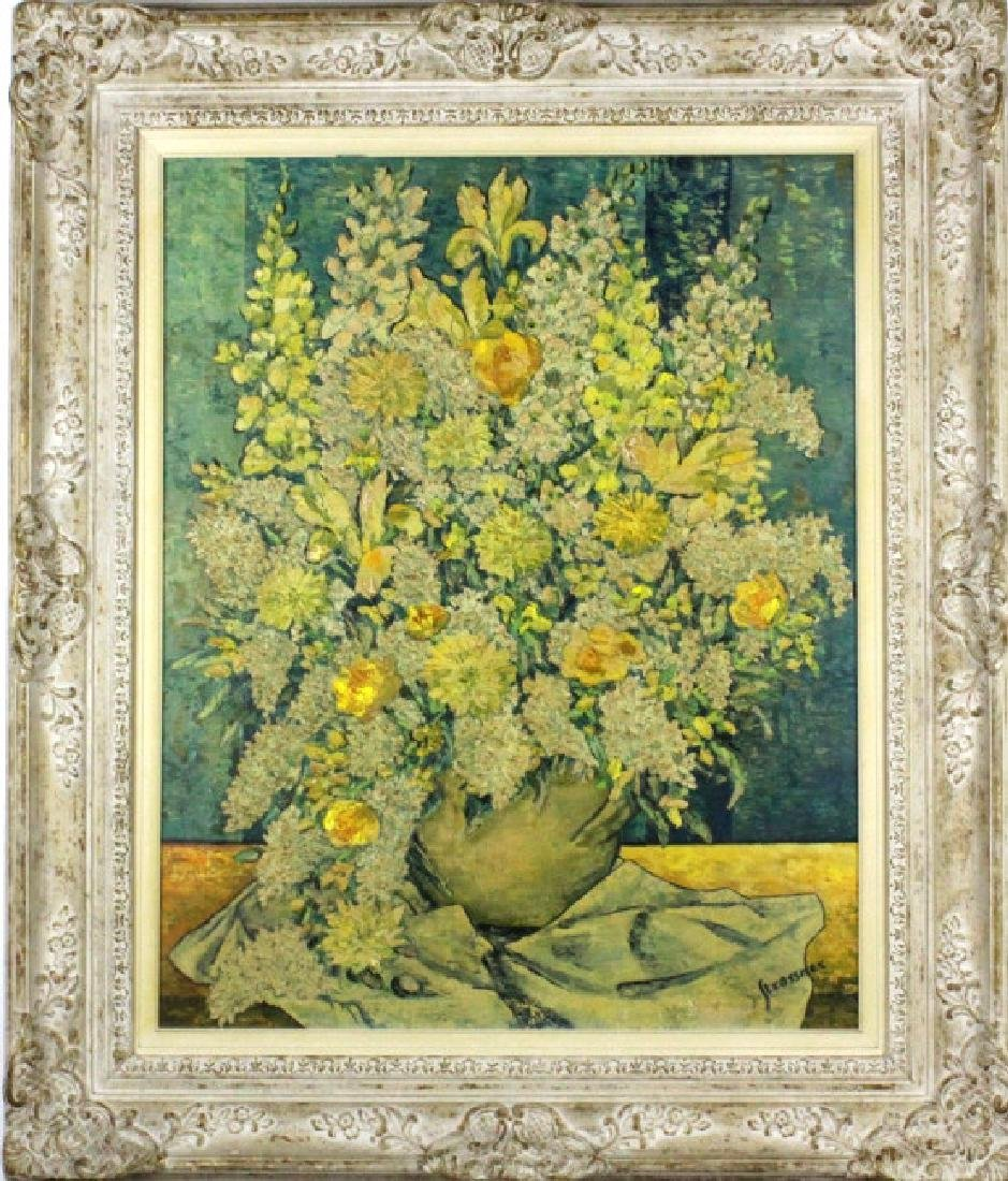 STRASSNER Impressionist Floral Still Life Painting