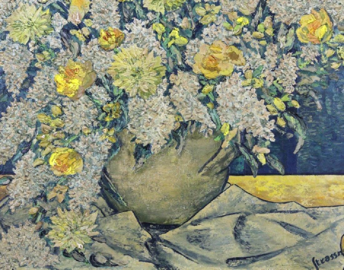 STRASSNER Impressionist Floral Still Life Painting - 4