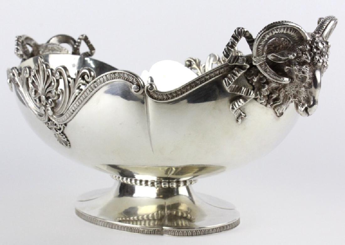 Arno Fassi Sterling Silver Rams Head Centerpiece - 2