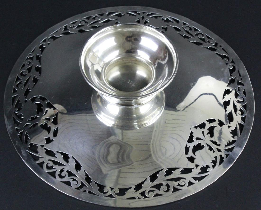 Chester Billings Sterling Silver Footed Platter - 8